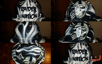 Oakland Raiders custom hard hat