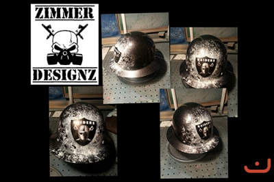 custom oakland raiders hard hat