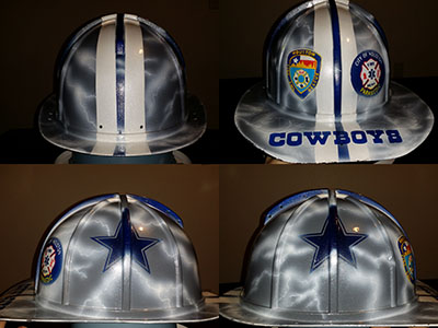 Dallas Cowboys HFD fire fighter helmet custom painted c