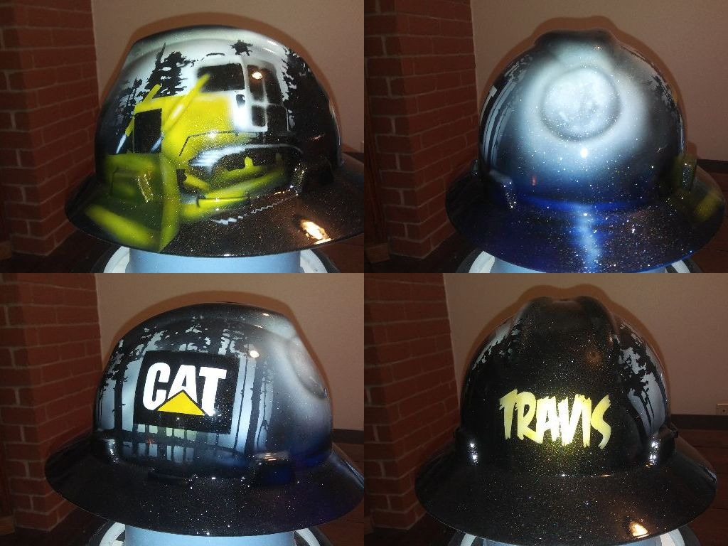 cat dozer custom hard hat