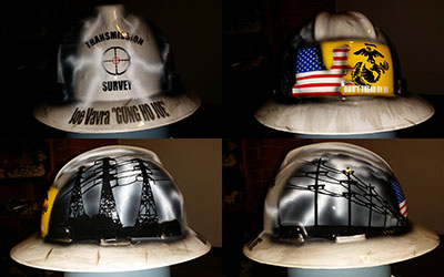 Custom Welding Helmets >> Custom hard hats painted and airbrushed - Zimmer DesignZ
