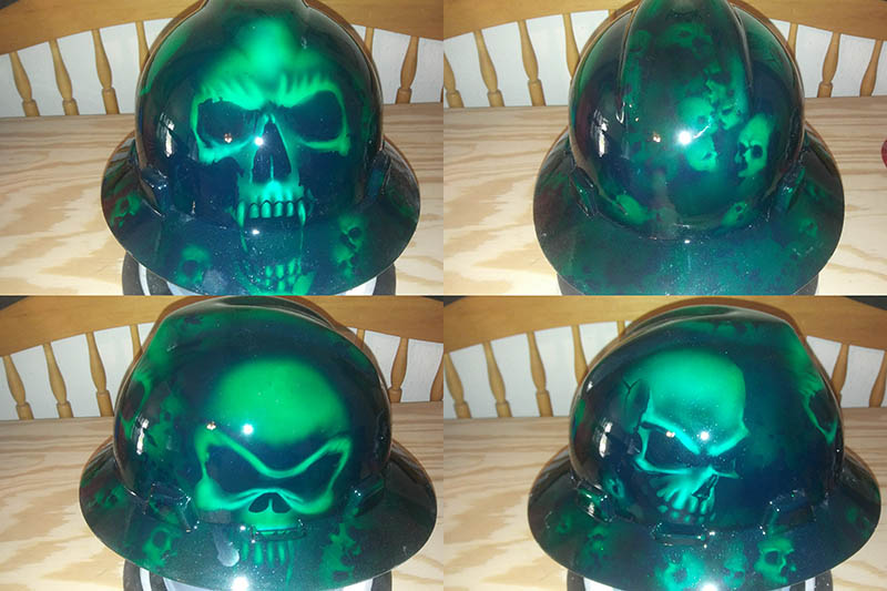 GREEN SKULLS HARD HAT opt