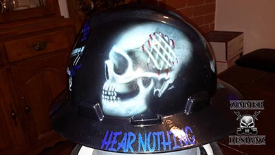 Hear no evil custom hard hat