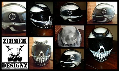 Scorpion Skull Helmet with visor paint