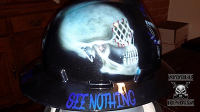 See no evil custom hard hat