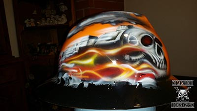 Skull train hard hat