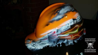 Skull train hard hat 1