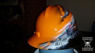 Skull train hard hat 2