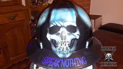 Speak no evil custom hard hat