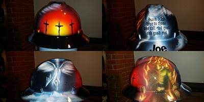 Custom Hard Hats Painted And Airbrushed Zimmer Designz