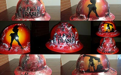 custom pinup hard hat
