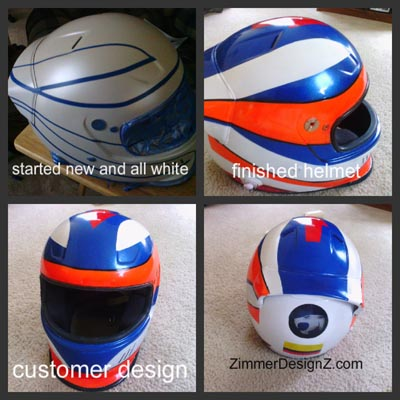 custom kart racing helmet