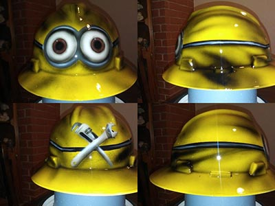 minion hard hat custom painted opt