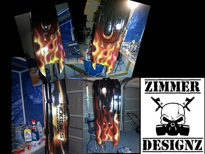 rc hobbies boat airbrushed flames