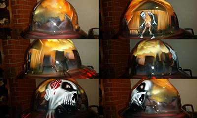 zombie hard hat custom paint
