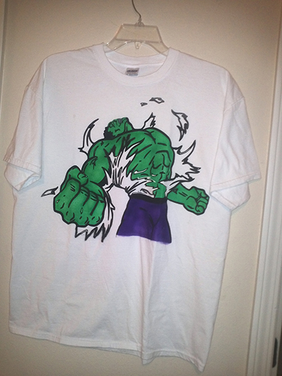 Incredible Hulk Airbrushed Shirt