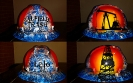blue oilfield trash hard hat
